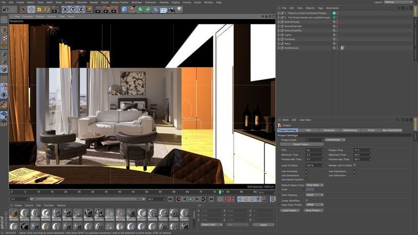 Corona per C4D Alpha 6: la prima build per Mac OS X