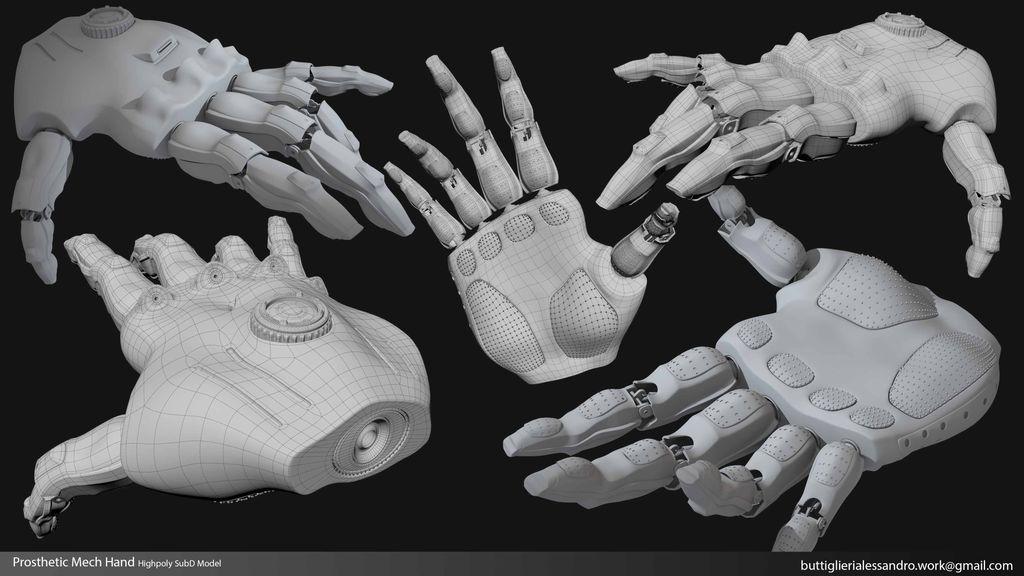 Prosthetic Mech Hand_Highpoly SubD Model presentation.jpg