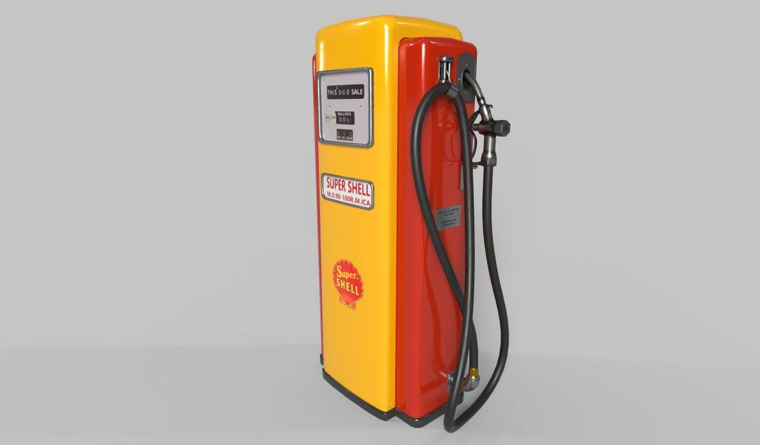 old shell fuel distributor