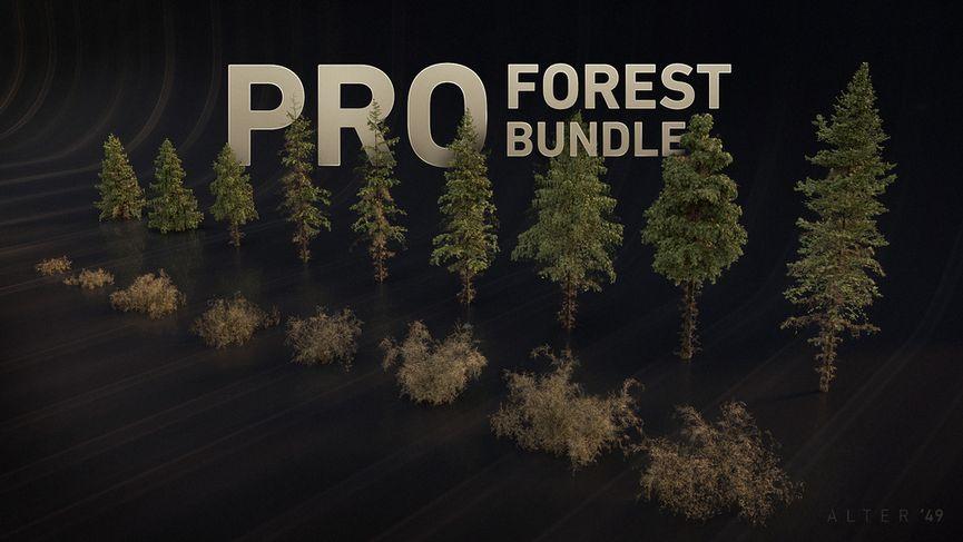 PRO Forest Bundle: alberi da scaricare gratuitamente