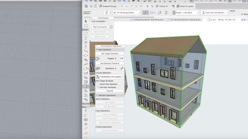 Rhino + Grasshopper in Archicad Live Connection 2.0