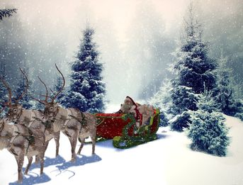 Una slitta per Babbo Natale