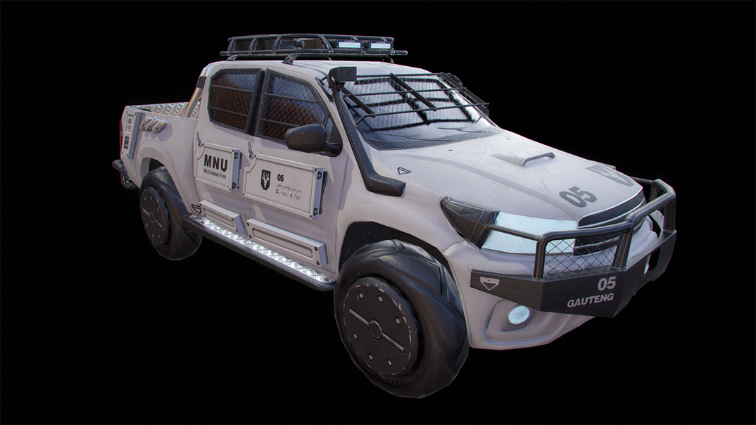 Toyota Hilux - Low poly