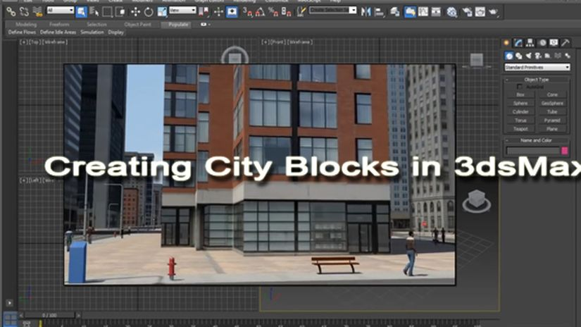 Creating City Blocks in 3dsMax