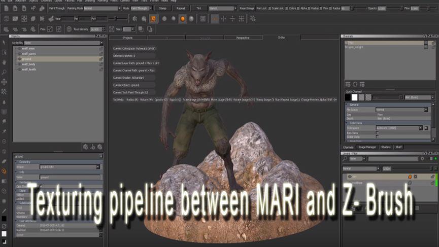 Texturing pipeline tra MARI e ZBrush