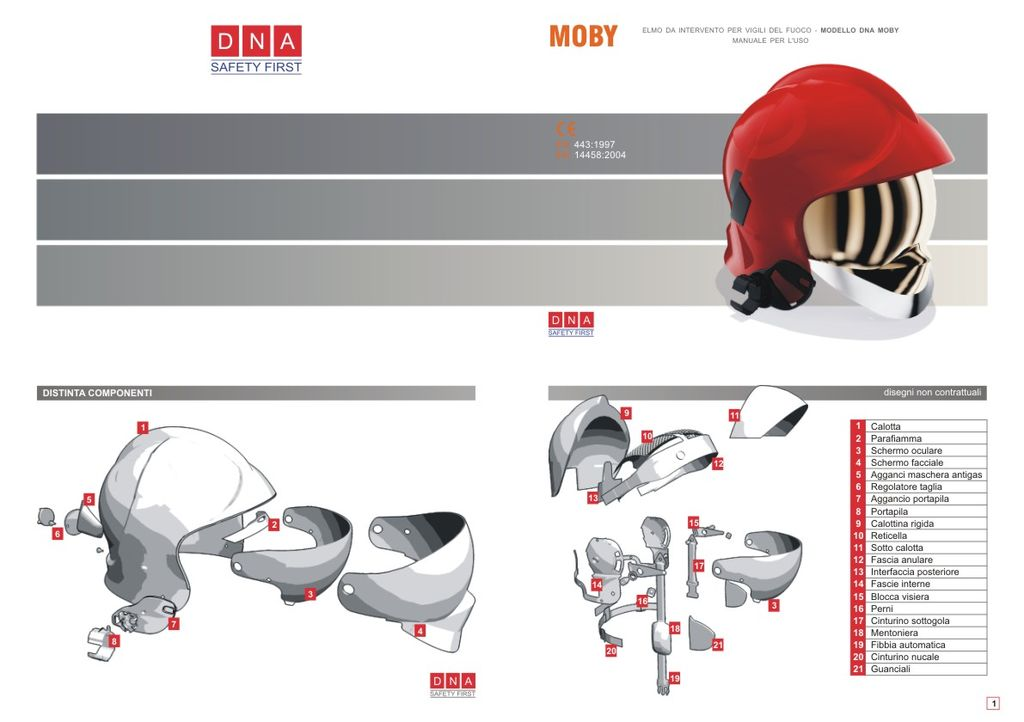 Manuale d'uso elmo protettivo Moby