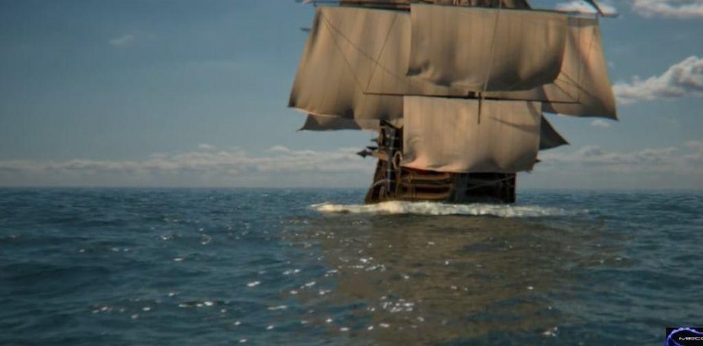 Houdini Simulation: Ship over the Sea