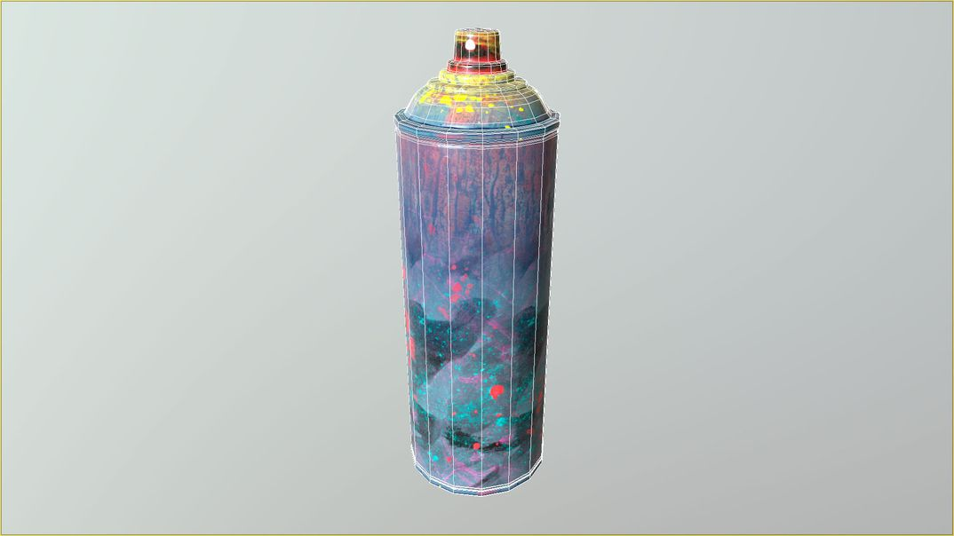 Spray Can Dirt lowpoly