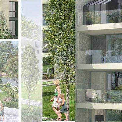 Render edifici e realizzazione brochure illustrativa progetto.