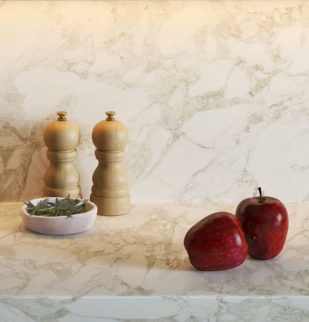 apples on a marble top