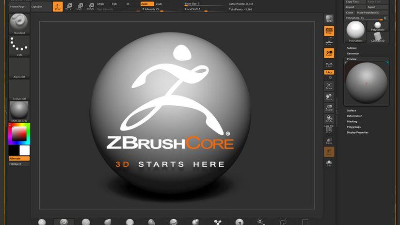 ZBrushCore e Wacom Intuos 3D - accoppiata vincente?