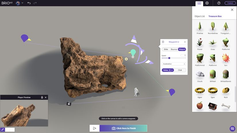 BrioVR - VR e AR in un browser web