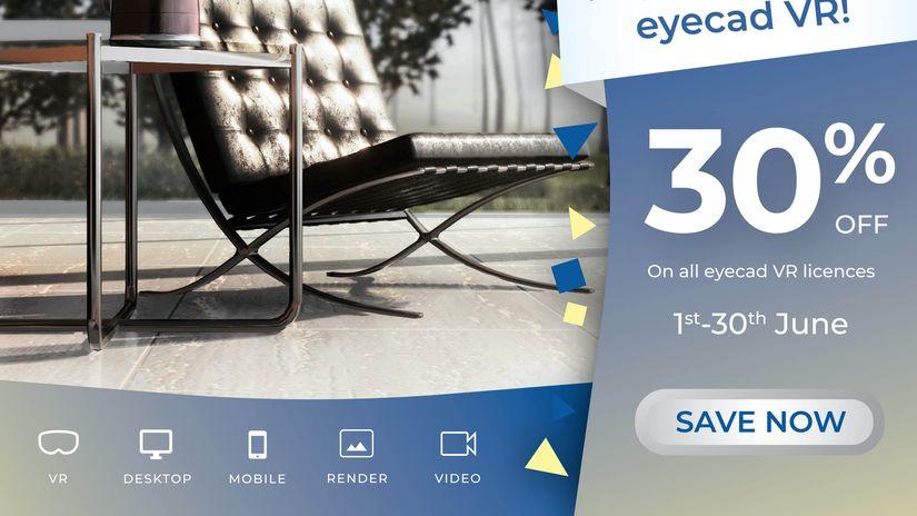 EYECAD VR - sconti del 30% per tutto giugno