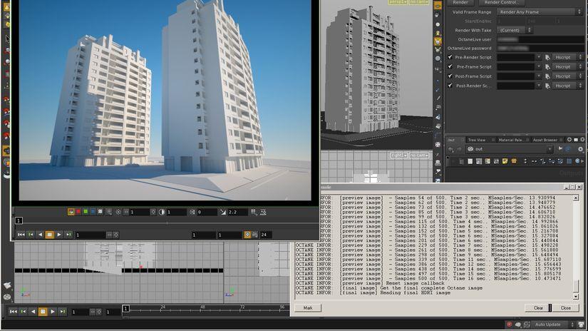 OctaneRender development  for Nuke, Houdini, MotionBuilder, Unreal Engine 4 and Digital Molecular Matter Engine