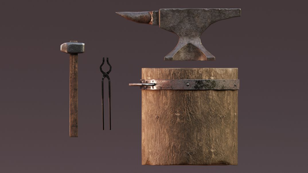 The blacksmith's set lowpoly