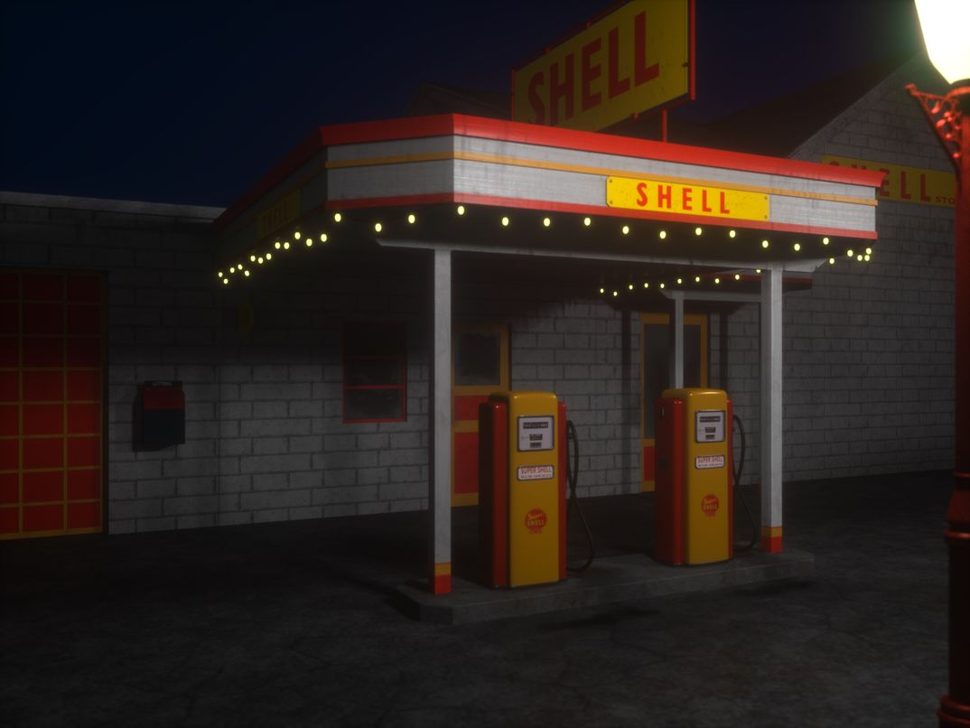 old shell fuel distributor