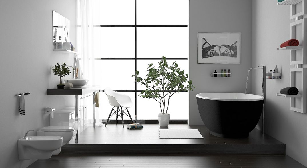 Zen bathroom scene