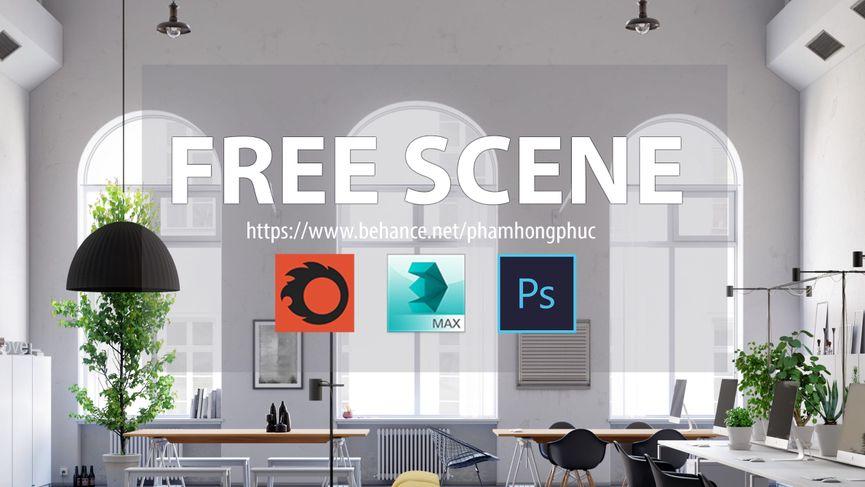Nottdesign office: Scena 3D da scaricare gratuitamente