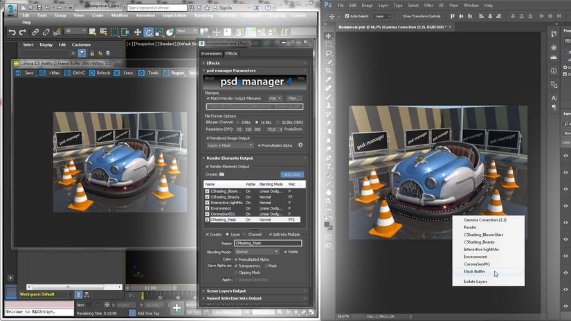 PSD Manager 4 per 3ds Max