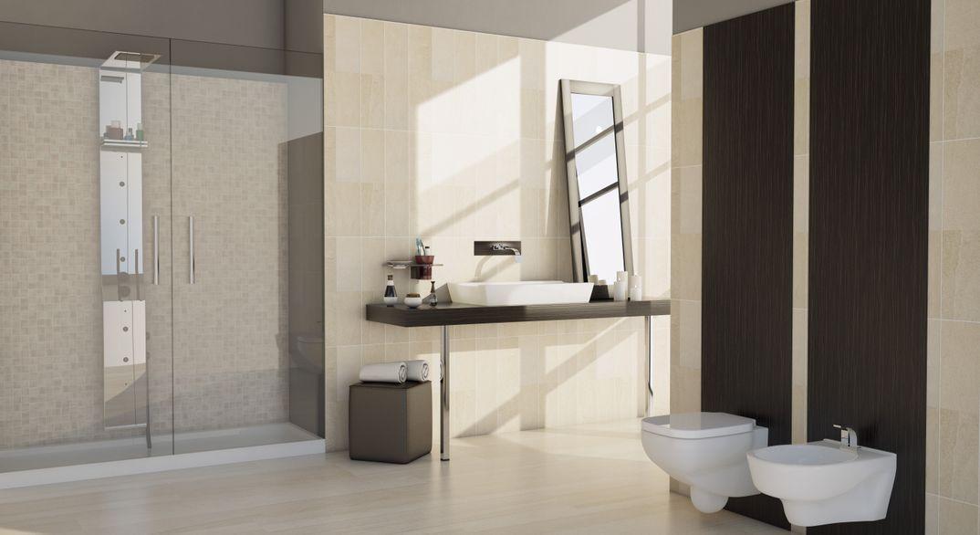 Interior realistic bathroom