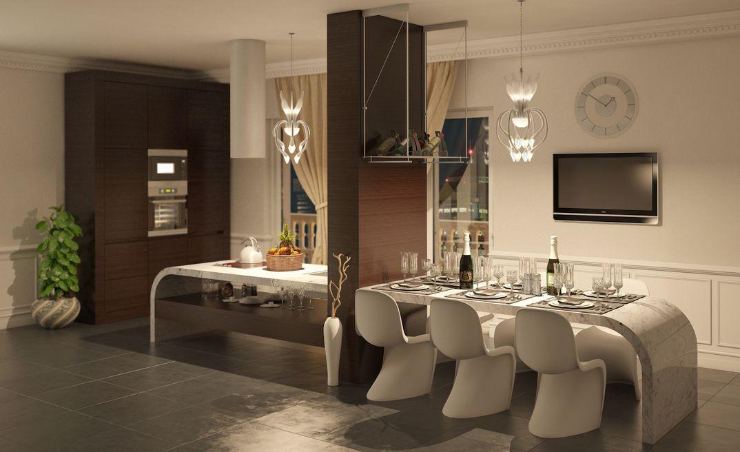 cucina di lusso - grafico3DStudioMax