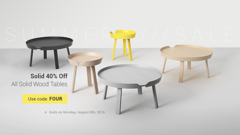 Designconnected Summer Sale: WOOD TABLES