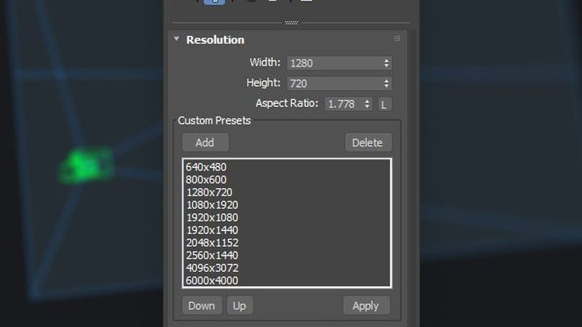 Camera Resolution Mod per 3ds Max