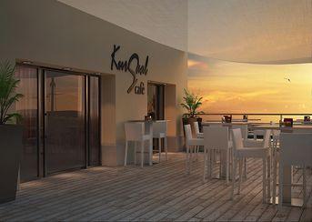 Kursaal cafè at sunset
