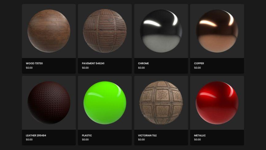 Più di 100 materiali gratuiti per Maya e Arnold