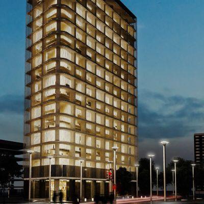 Exterior building render Corona