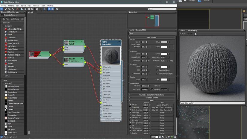 Tra realismo e virtuosismo: un tessuto in microfibra con Forest Pack e Corona per 3ds Max