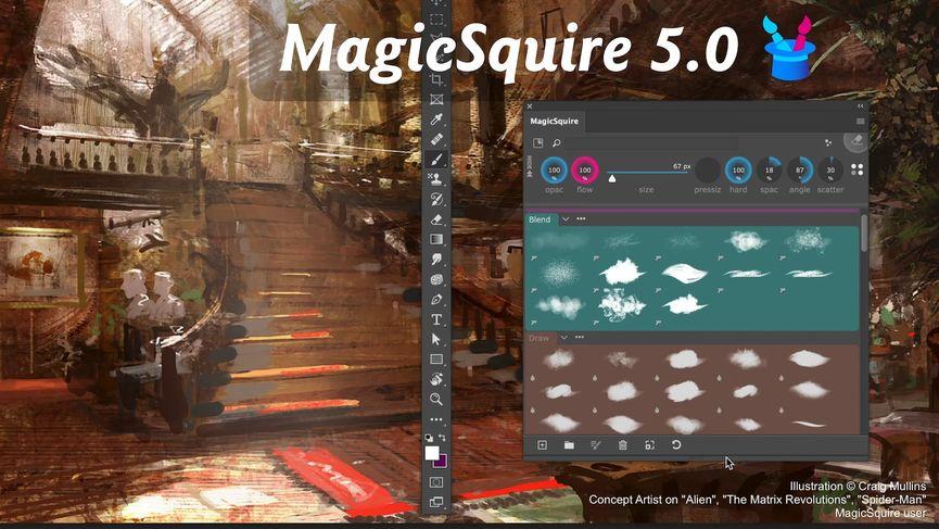 MagicSquire 5.0: organizzare i pennelli su Photoshop