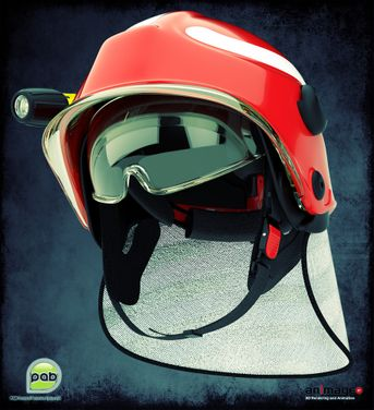 Firefighter's helmet made for PAB Akrapovich