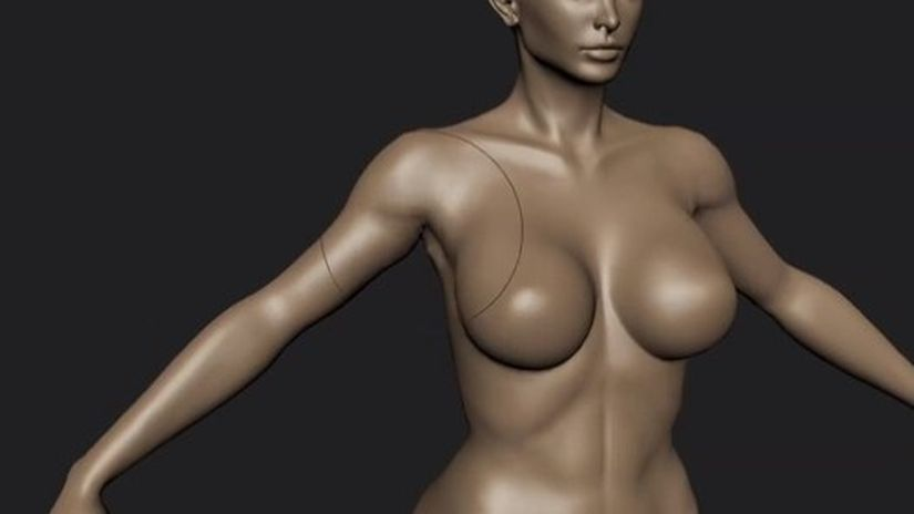 Mudbox 2014 - Scupt the body of a woman