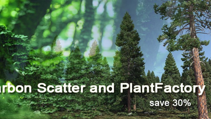 Save 30% on PlantFactory and Carbon Scatter