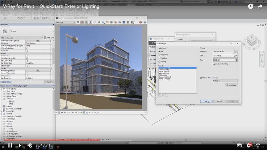 V-Ray per Revit: Exterior Lighting Tutorial