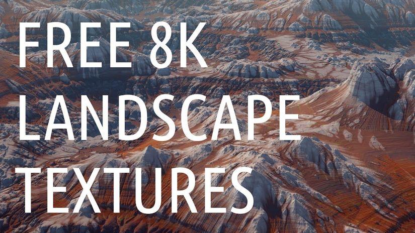 10 landscape texture 8K da scaricare gratuitamente