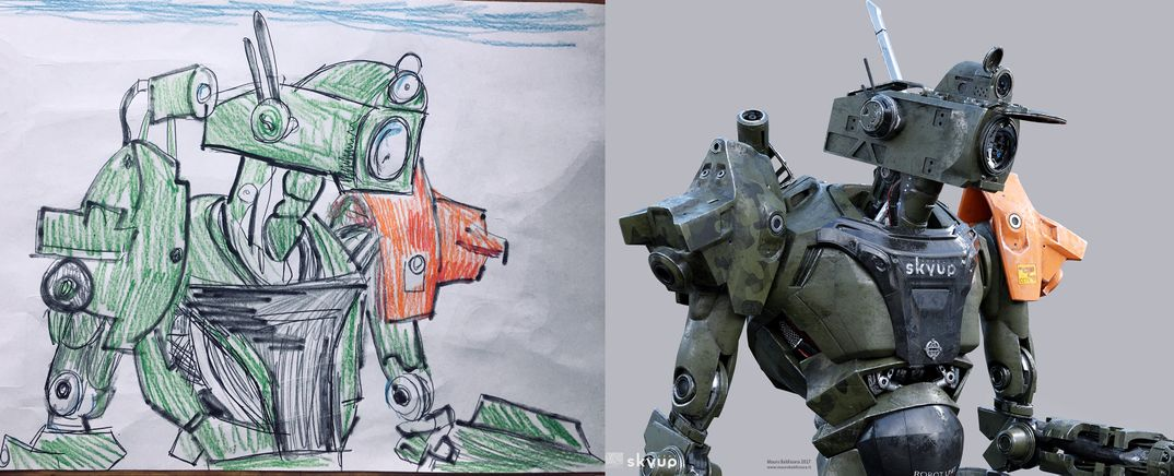Skyup Academy Robot e VFX  Making of del filmato