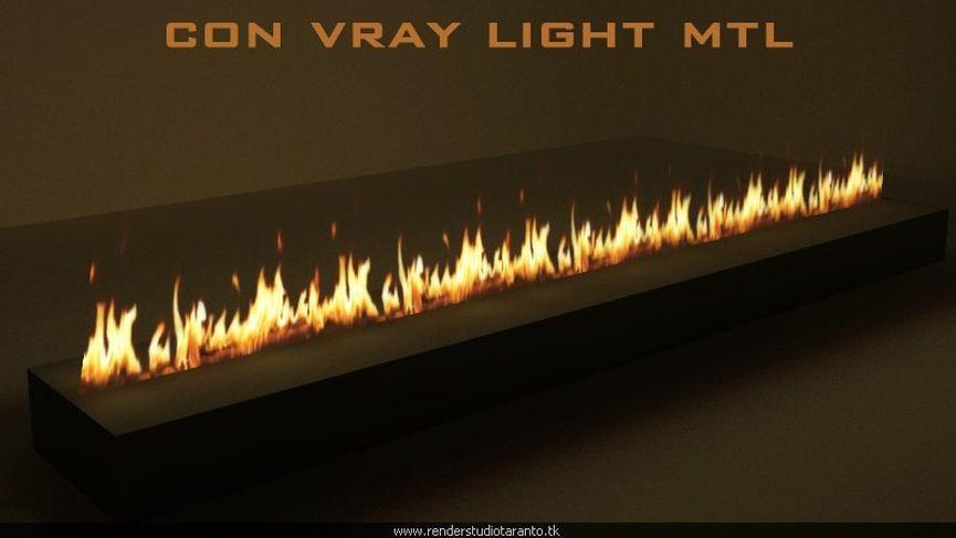 Vray 2.10 Fuoco con vray light material