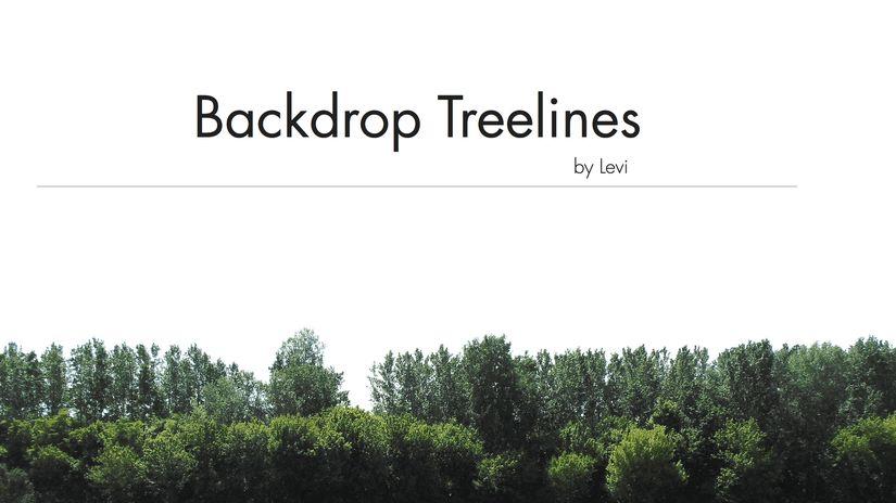 Skyline di alberi da scaricare gratuitamente