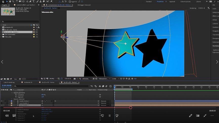 Tutorial: come rendere tridimensionali forme, solidi e loghi con After Effects