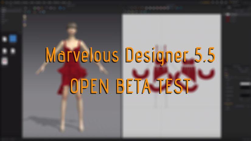 Marvelous Designer 5.5 Open Beta