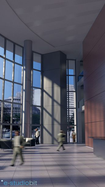 Skyscraper lobby render