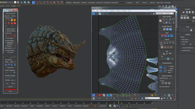 Xrayunwrap 2.0 per Maya