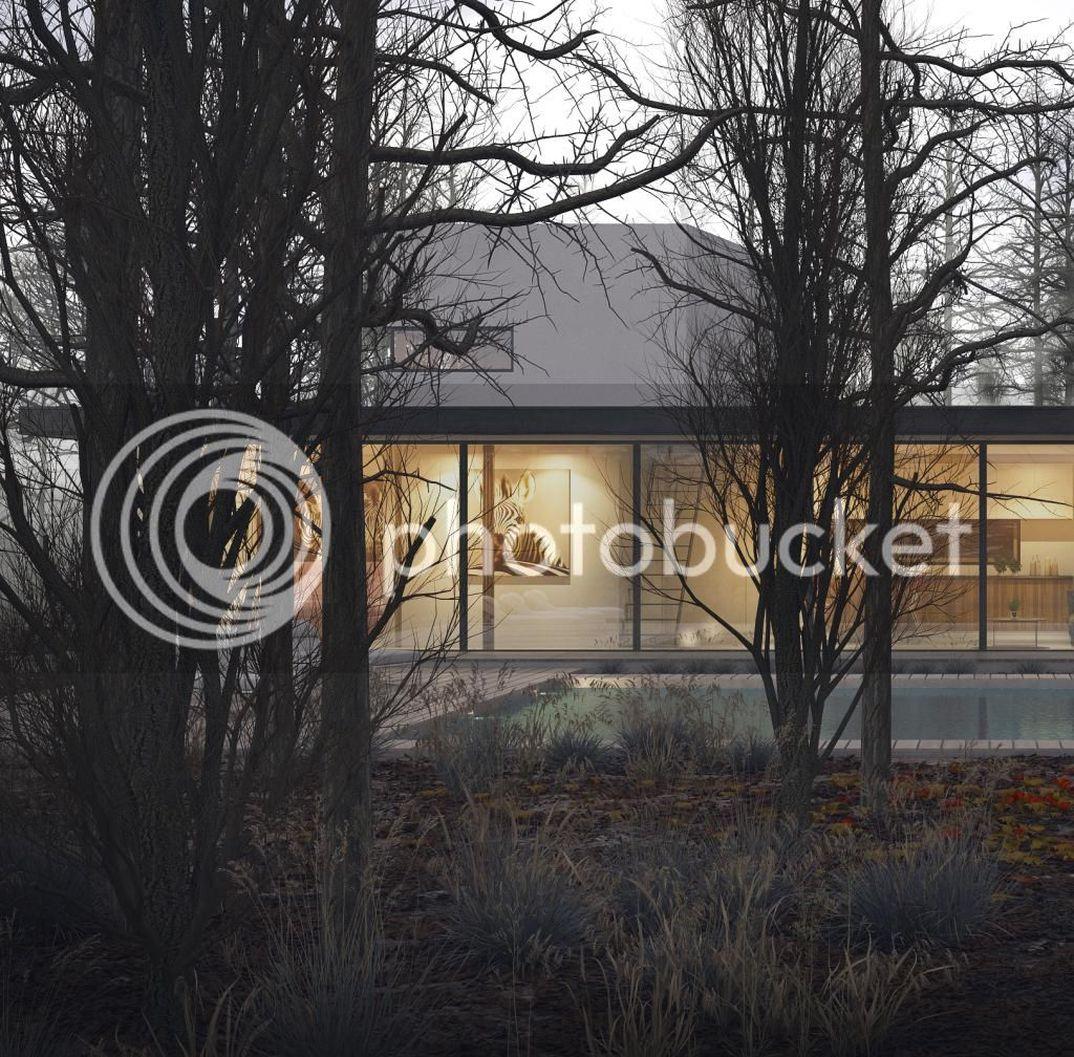 house in fog!