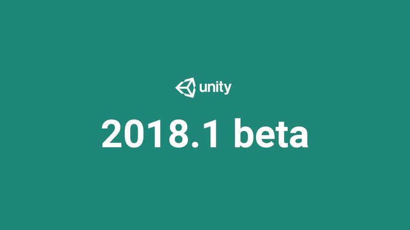 Rilasciata la beta di Unity 2018.1