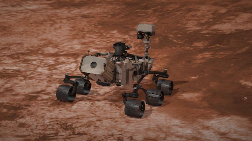 Blender ci porta su Marte alla guida di Curiosity