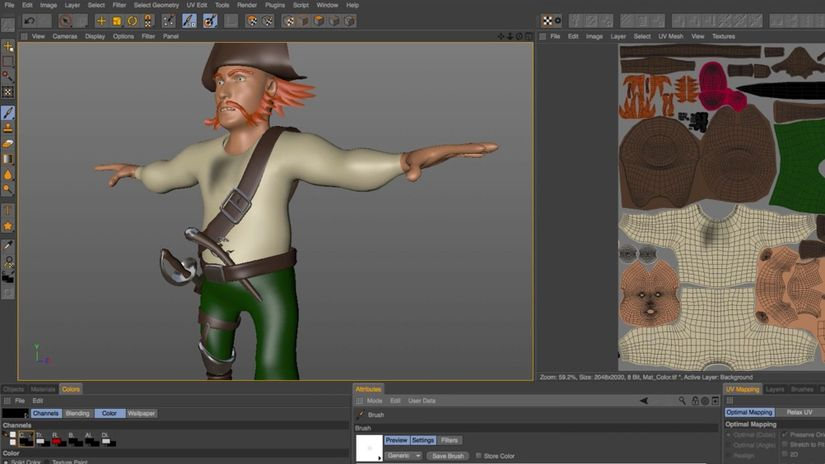 MAXON CINEMA 4D BodyPaint Technology Preview