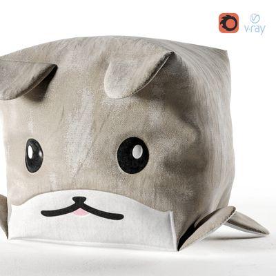 Dog Cube Pouf