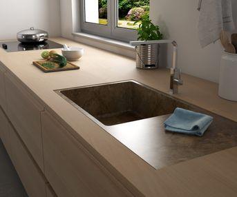Piano cucina in legno